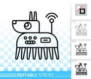 Robot Dog simple black line vector icon royalty free illustration