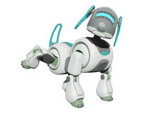 Robot Dog Using the Bathroom Stock Images