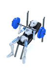 Robot Doing Bench Presses Royalty Free Stock Image