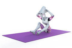 Robot Doing Sit Ups Stock Image