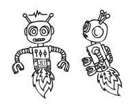 Robot doodle Stock Photos