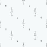 Robot doodles pattern. Seamless robot doodle pattern. The concept of science and the future. Cartoon style. Hand-drawn illustration Royalty Free Stock Image