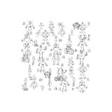 Robot doodles vector. Royalty Free Stock Image