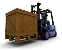 Robot Driving a  Lift Truck Stock Photography