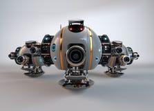 robot droid Bourdon d'appareil-photo de vol illustration de vecteur