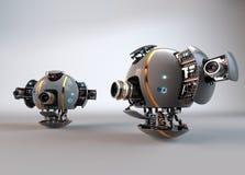 robot droid Bourdon d'appareil-photo de vol illustration stock
