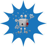 Robot drop nuts Royalty Free Stock Photography