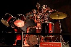 Robot the drummer Stock Photos