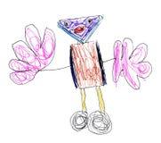 Robot du dessin des enfants Images libres de droits