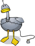 Robot duck cartoon character Stock Images