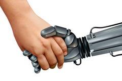 Robot e bambini Immagine Stock Libera da Diritti
