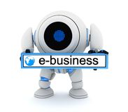 Robot and e-bussiness Stock Images