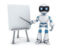 Robot e-learning and board Royalty Free Stock Image