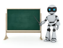 Robot e-learning Royalty Free Stock Photography