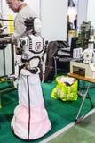 Robot e nuove tecnologie di esposizione Immagine Stock Libera da Diritti