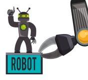 Robot e progettazione di tecnologia Fotografie Stock