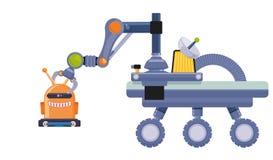 Robot e progettazione di tecnologia Immagini Stock Libere da Diritti