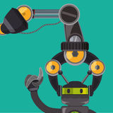 Robot e progettazione di tecnologia Fotografie Stock Libere da Diritti