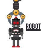 Robot e progettazione di tecnologia Fotografia Stock