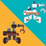 Robot e progettazione di tecnologia Immagine Stock Libera da Diritti