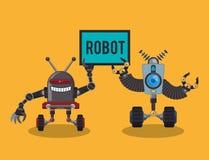 Robot e progettazione di tecnologia Immagini Stock