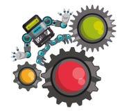 Robot e progettazione di tecnologia Fotografia Stock Libera da Diritti
