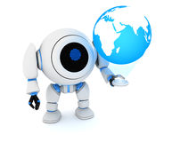 Robot and earth Stock Photo