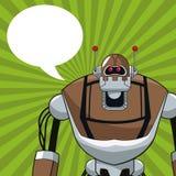 Robot electric mechanical bubble speech Royalty Free Stock Photos