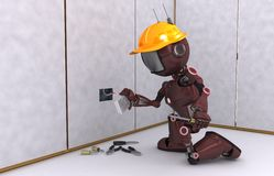 Robot Electrician Stock Images