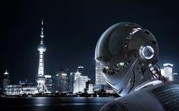 Robot Elegancki Fotografia Stock