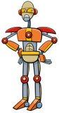 Robot- eller cyborgtecknad filmillustration vektor illustrationer