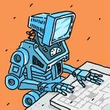 Robot en Computer stock illustratie