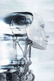 Robot en cours Photo stock