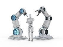 Robot en cyborg royalty-vrije illustratie