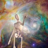 Robot en diepe ruimte Stock Afbeelding