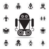 robot en icono de la oruga Sistema detallado de iconos del robot Diseño gráfico superior Uno de los iconos de la colección para l libre illustration