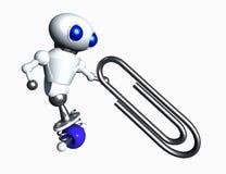 Robot en Paperclip Royalty-vrije Stock Foto's