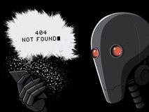 Robot en Smartphone 404 foutenpagina Vector Illustratie