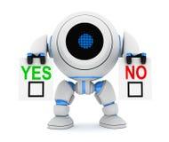 Robot en spatie ja of nr stock illustratie