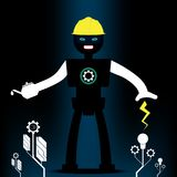 Robot engineering and machinery tree shape.Concept energy and technology. royalty free illustration