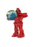 Robot et globe Photographie stock libre de droits