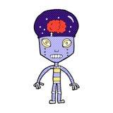 robot extraño de la historieta cómica stock de ilustración