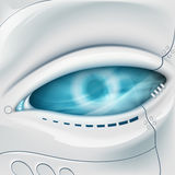 Robot Eye. Mechanical face. Royalty Free Stock Photo