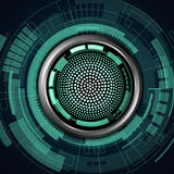 Robot eye. Vector of abstract robot eye royalty free illustration