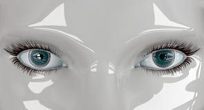 Robot eyes 'Windows to the soul' Royalty Free Stock Photo