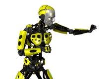 robot för tolkning 3D på vit Arkivbild