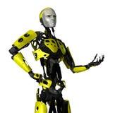 robot för tolkning 3D på vit Royaltyfri Bild