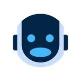 Robot Face Icon Shocked Face Emotion Robotic Emoji. Vector Illustration Stock Images