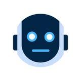 Robot Face Icon Shocked Face Emotion Robotic Emoji. Vector Illustration Royalty Free Stock Photography