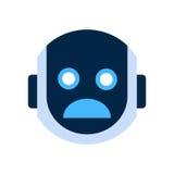 Robot Face Icon Shocked Face Emotion Robotic Emoji. Vector Illustration Stock Photos